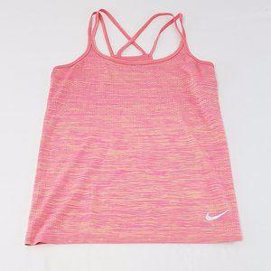 Nike Dri-fit pink fleck strappy tank